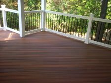 St. Louis Decks, Fiberon Ipe with Vinyl Rails, by Archadeck