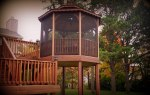Screened Gazebo for Elevated Deck in St. Louis and St. Charles area