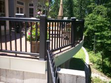 TimberTech Black Radiance Rail and Vinyl Deck in St. Louis County