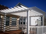 Vinyl Pergola for Composite Deck, St. Louis, Mo