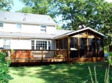 Deck with Screened In Deck Shade, by Archadeck
