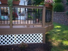 Deck in St. Louis with Lattice Skirting by Archadeck