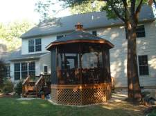 Gazebo with Lattice Skirting by Archadeck
