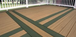 EverGrain Composite Deck - Forest Green with Cedar by Tamko