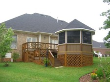 Deck with Gazebo Enclosure by Archadeck