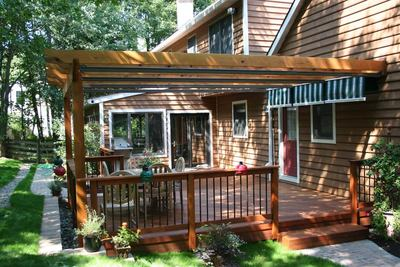 Decks with Shade Pergolas by Archadeck - Decks With Pergolas St. Louis Decks, Screened Porches, Pergolas By