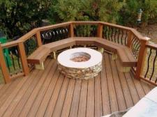 Trex Synthetic Deck with Built in Benches by Archadeck