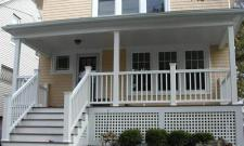TimberTech Front Porch with Lattice Skirting by Archadeck