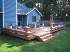 Composite Deck with Benches and Stairs