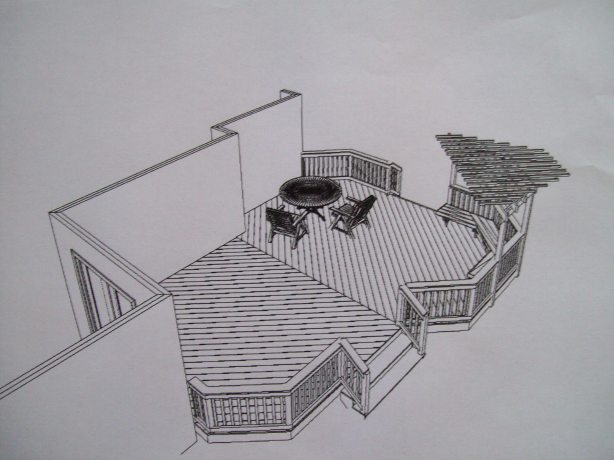 wooden deck plans free