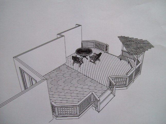 pergola over deck plans