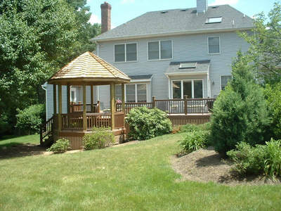 November 2011 st louis decks screened porches for Deck with gazebo