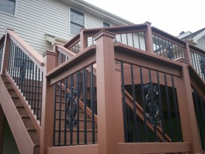 Composite Deck with Decorative Railing, Wildwood Mo, by Archadeck