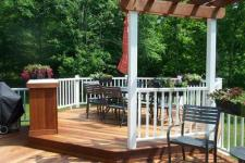 Hardwood Decks by Archadeck with a Pergola