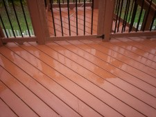 Redwood EverGrain Composite Deck in Chesterfield by Archadeck