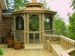 Screened Gazebo on Deck by Archadeck