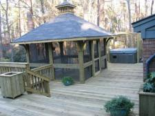 Square Gazebo and Wood Deck by Archadeck