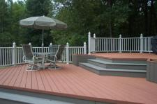 Composite Deck with Gray Trim by Archadeck