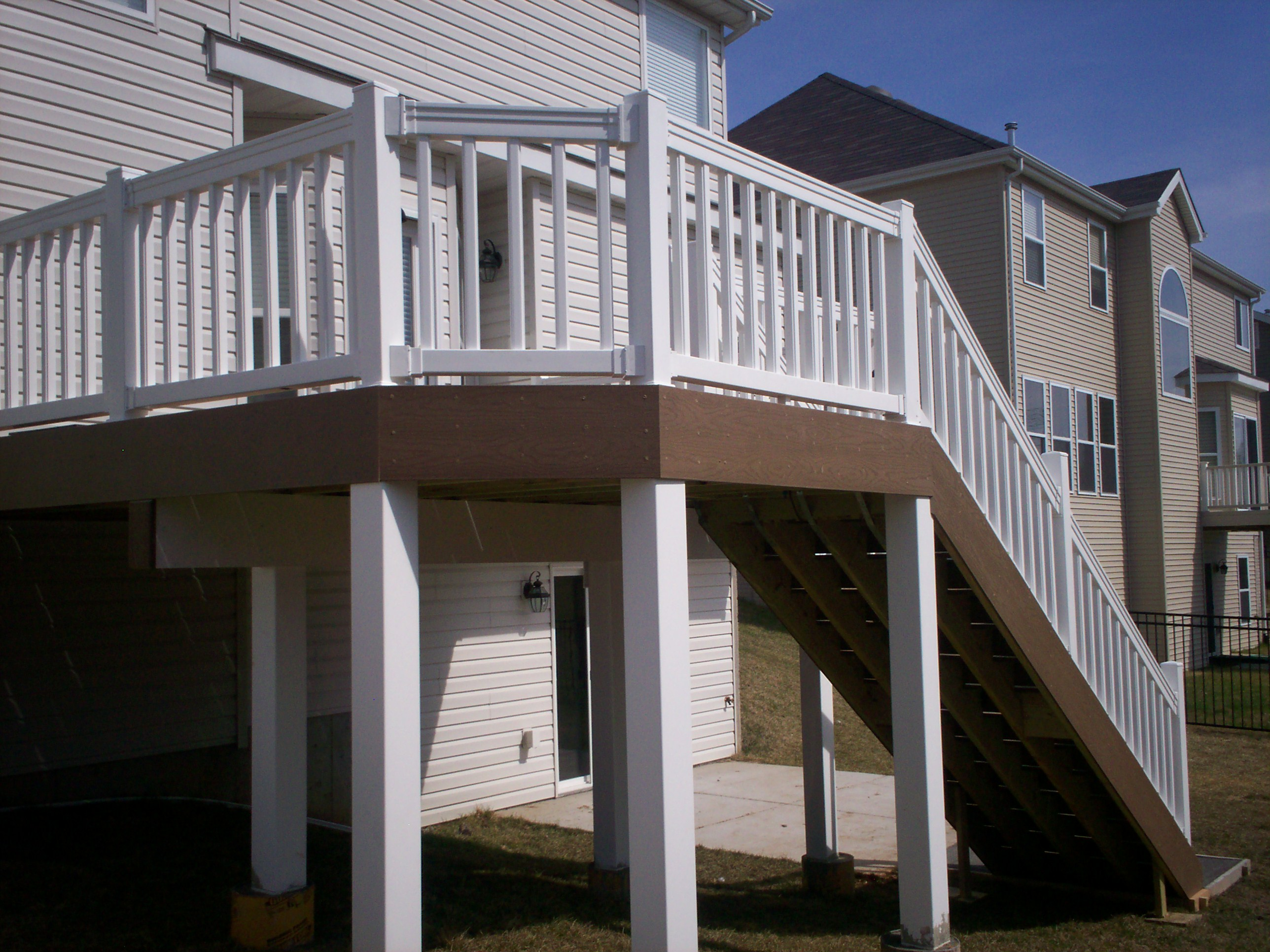 rail deck plastics posts post and wraps columns porch newel ranch vinyl column life from colonial