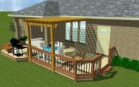 Combination Deck and Pergola, Archadeck Drawing