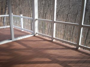 Screened Porch with Decorative Railings in St. Louis by Archadeck