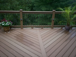 Deck with Diagonal Design by Archadeck, St. Louis
