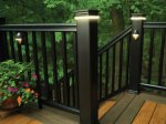 TimberTech Deck with Floor Board Design, Railing and Lighting, Photo by TimberTech