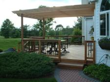 Wood Pergola over a Deck by Archadeck