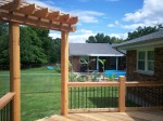 Cedar Deck and Pergola Deck Entry in St. Louis