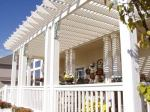 Cedar Pergola Painted White