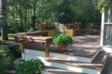 Ipe Hardwood Deck with Benches by Archadeck