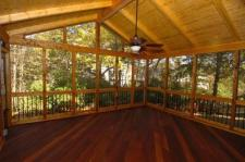 Ipe Screened Porch with Lighting by Archadeck