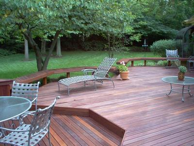 Multi level hardwood deck st louis decks screened for Multi level deck design