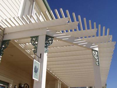 Painted Cedar Pergola