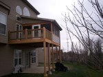 Safety Check. Solid Porch Railing with Open Deck Railings in St. Louis