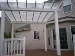 Vinyl Pergola With Platform Deck in St. Louis County