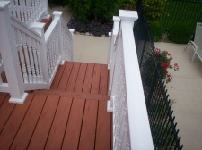 Vinyl Rail and Deck Stairs in West St. Louis County by Archadeck