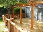 Wood Deck with Wood Pergola
