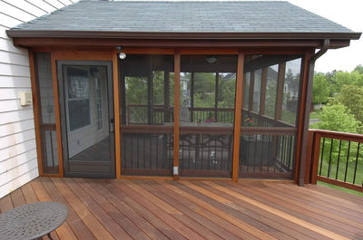 Deck With Screened Porch St Louis Decks