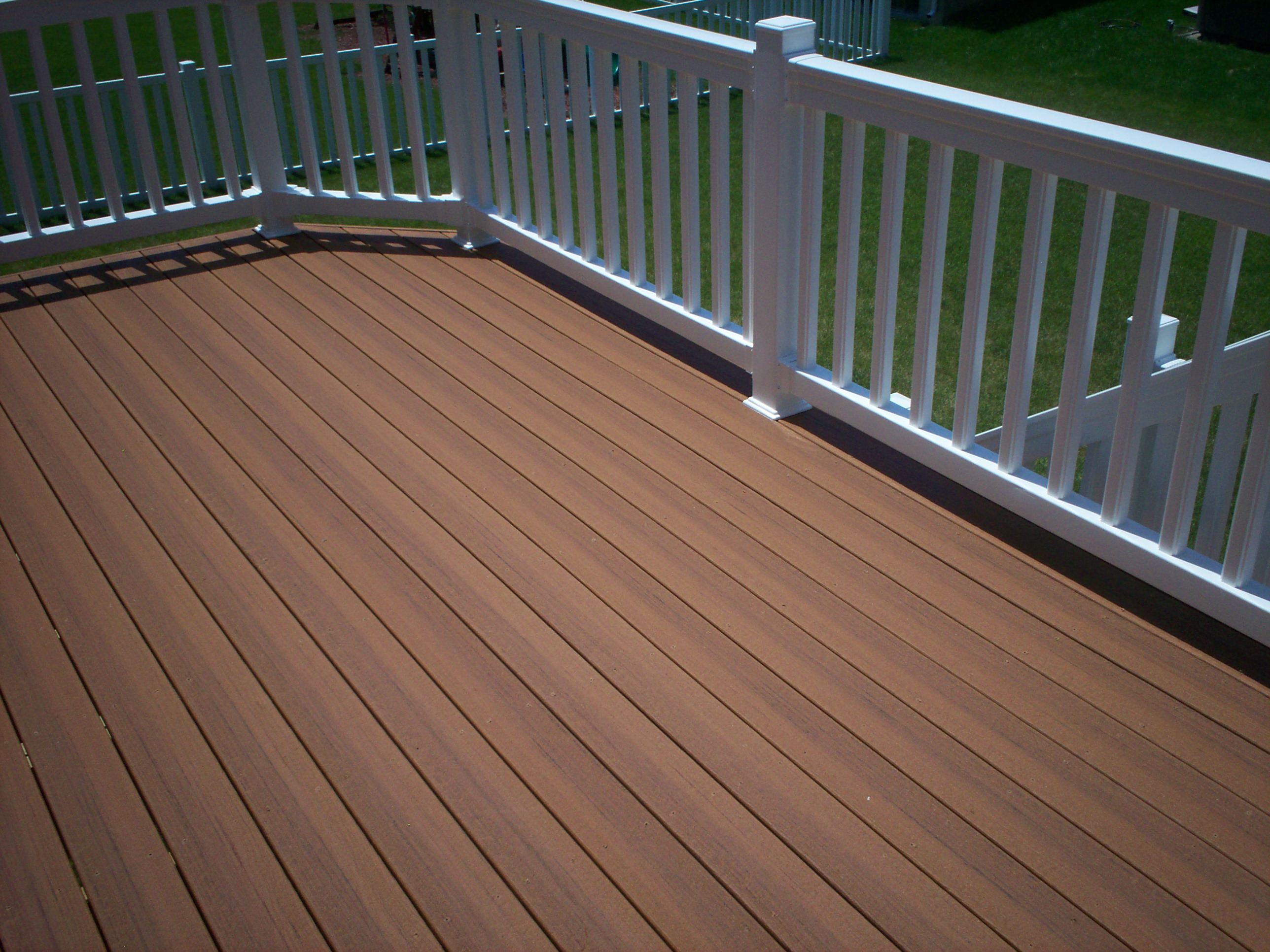 Composite decking colors st louis decks screened for Composite deck railing