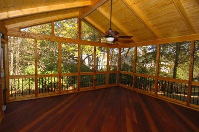 Best decking material options for a covered screen porch