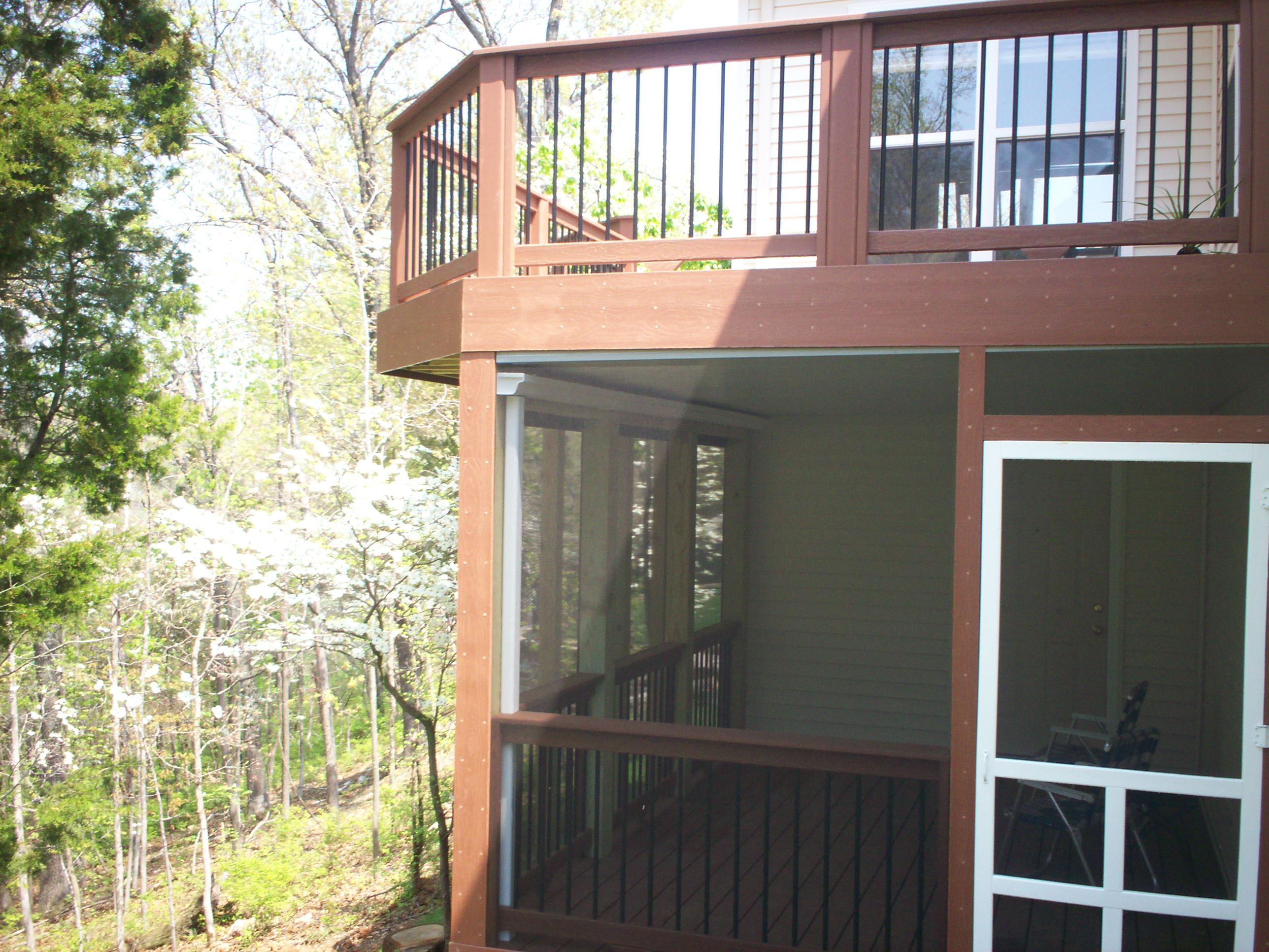deck designs with a screened porch screened porch with under deck ceiling in st louis - Outdoor Screened Porches