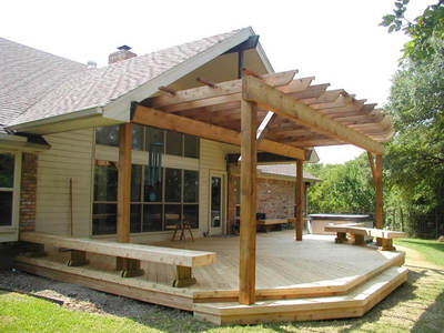 Spa Deck With Shade Pergola