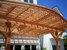 Curved Pergola, St. Louis Mo, Designed and Built by Archadeck