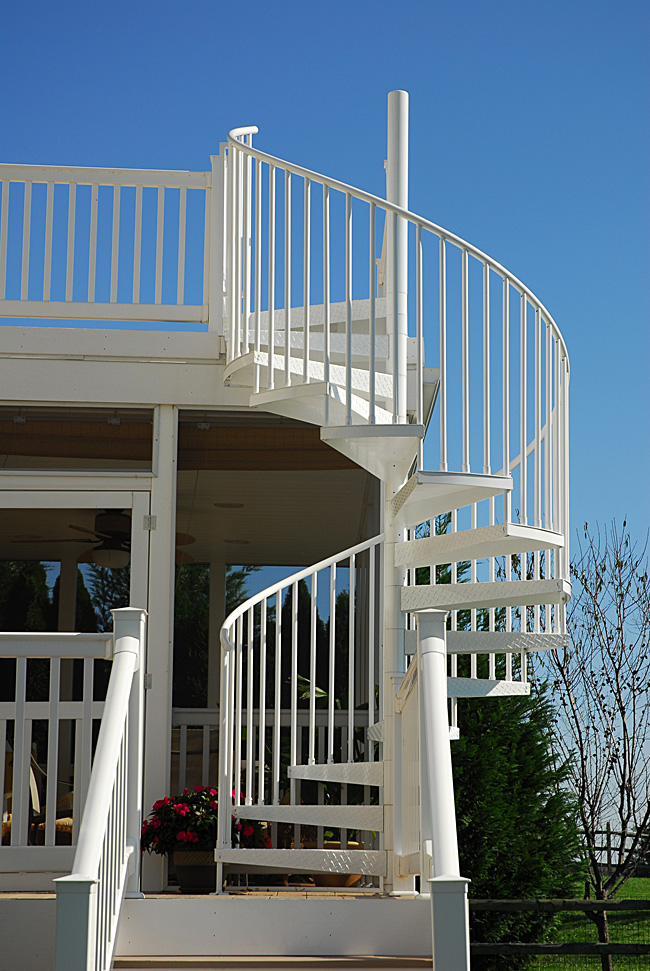 Deck And Porch Spiral Stairs, Photo By Salter Spiral Stair