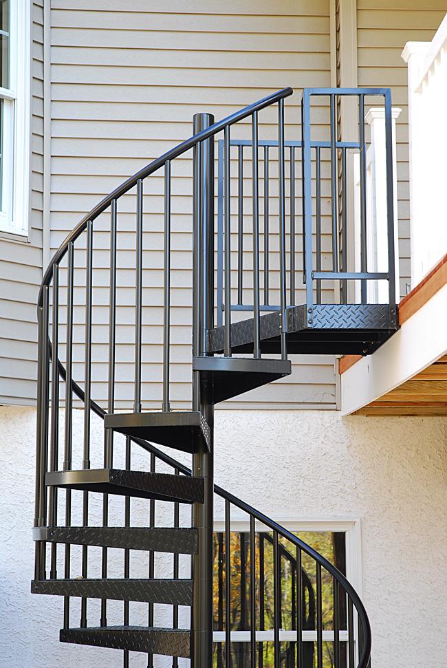 Ordinaire Spiral Deck Stairs, Photo By Salter Spiral Stair