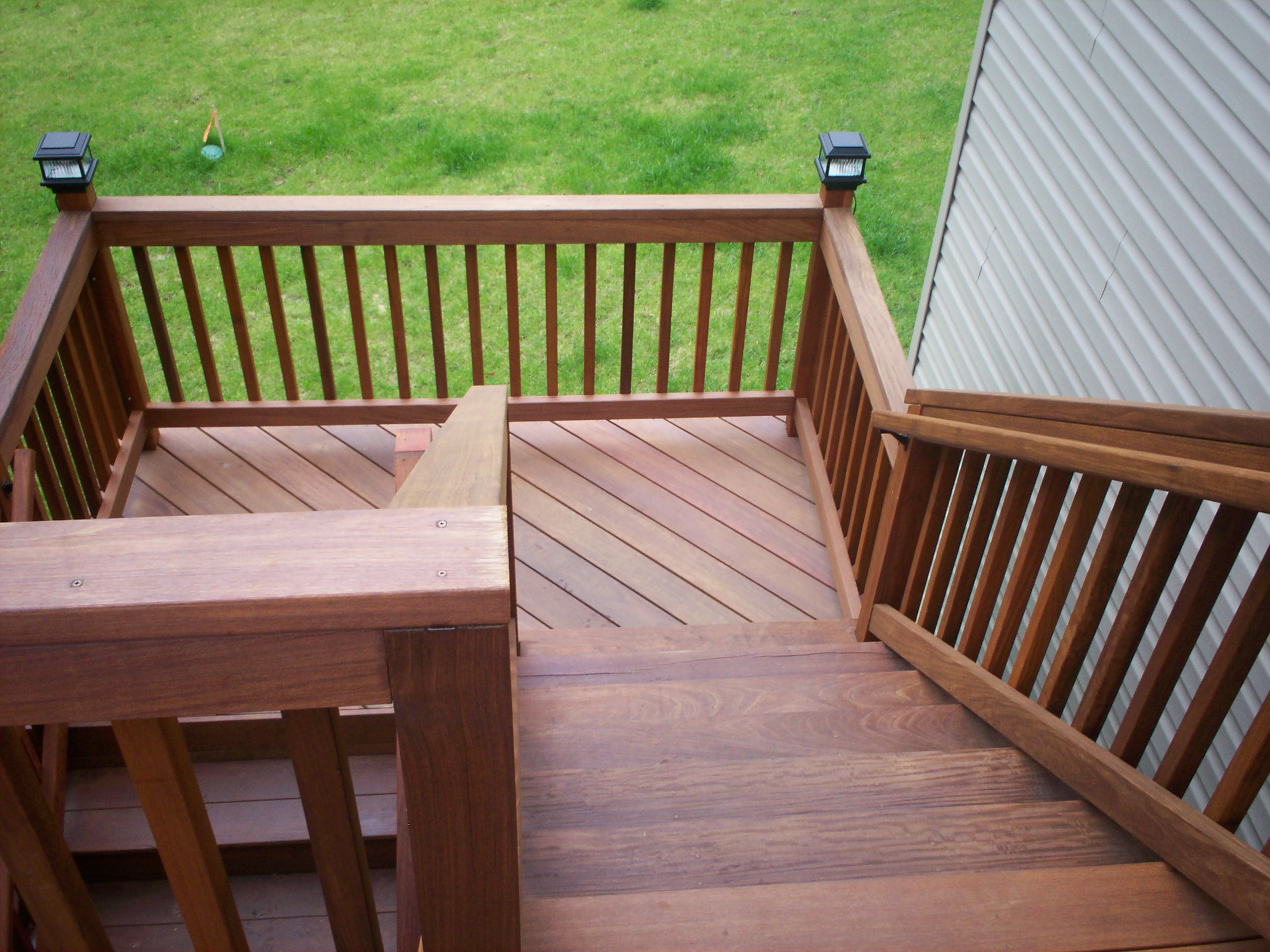 Flared Deck Stairs St Louis Decks Screened Porches Pergolas By Archadeck