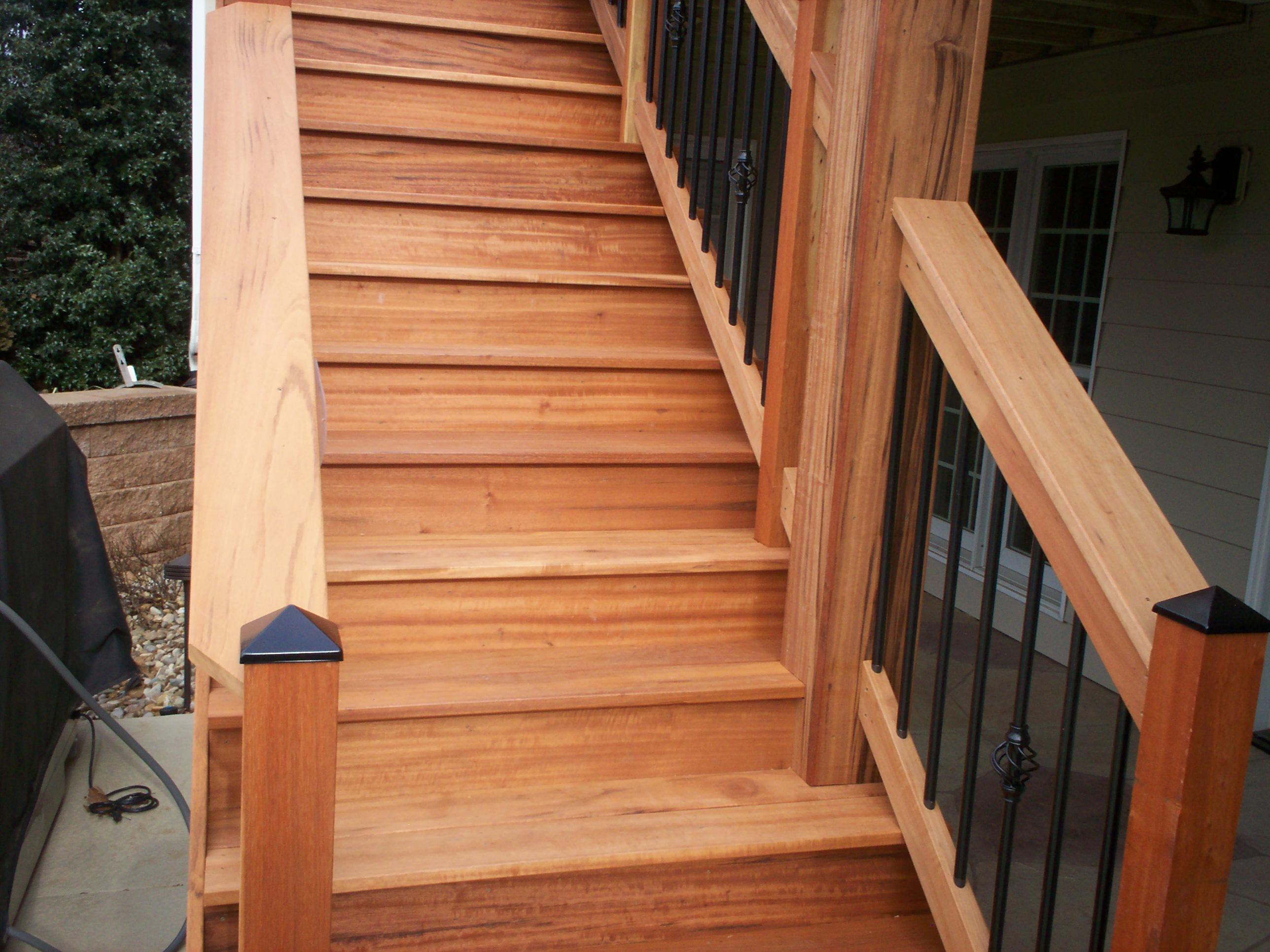 Hardwood Deck Stairs St Louis Mo St Louis Decks