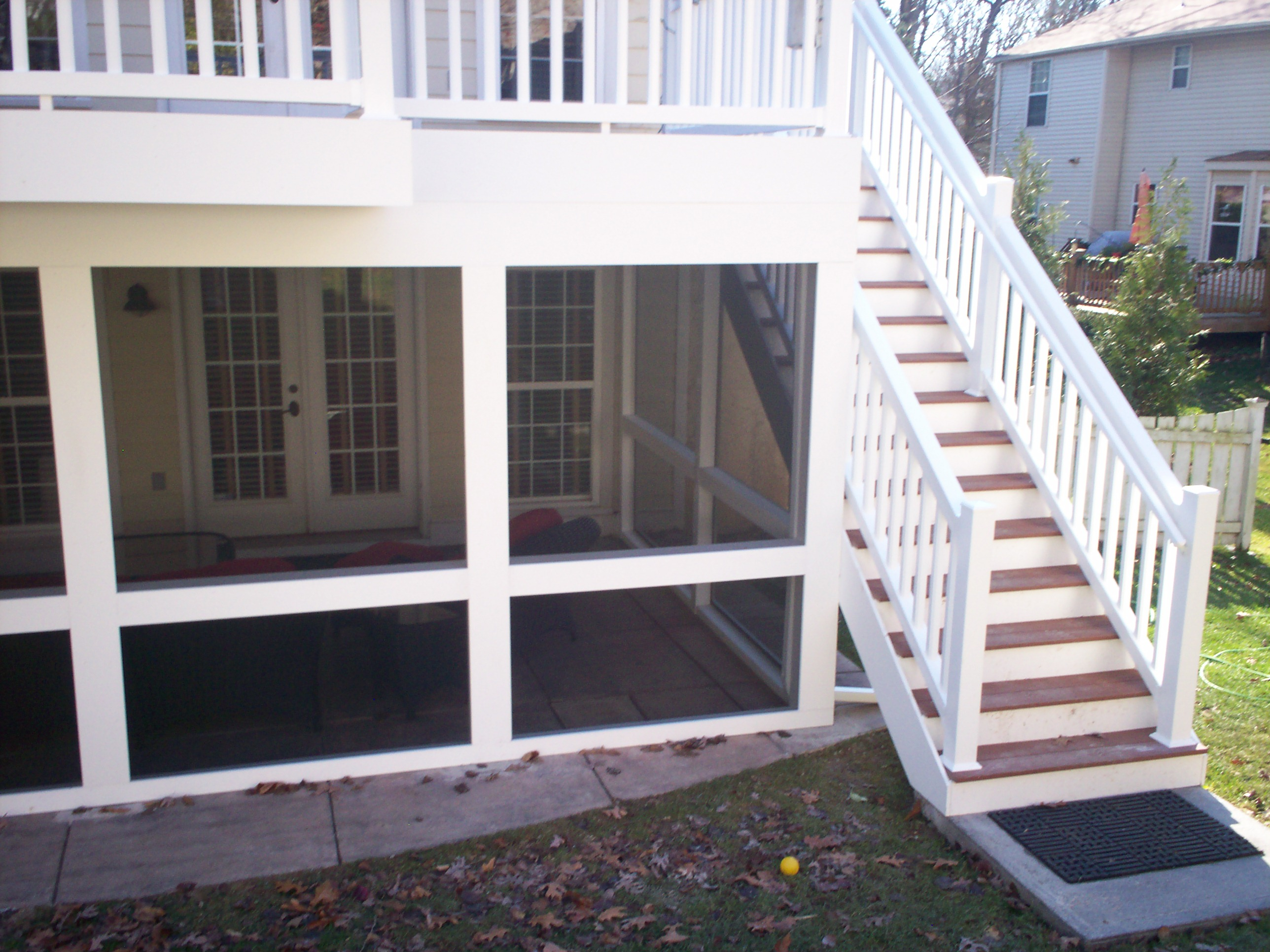 Under deck screen rooms st louis decks screened for Screen room plans