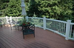 Composite Deck with TimberTech Deck Railings by Archadeck